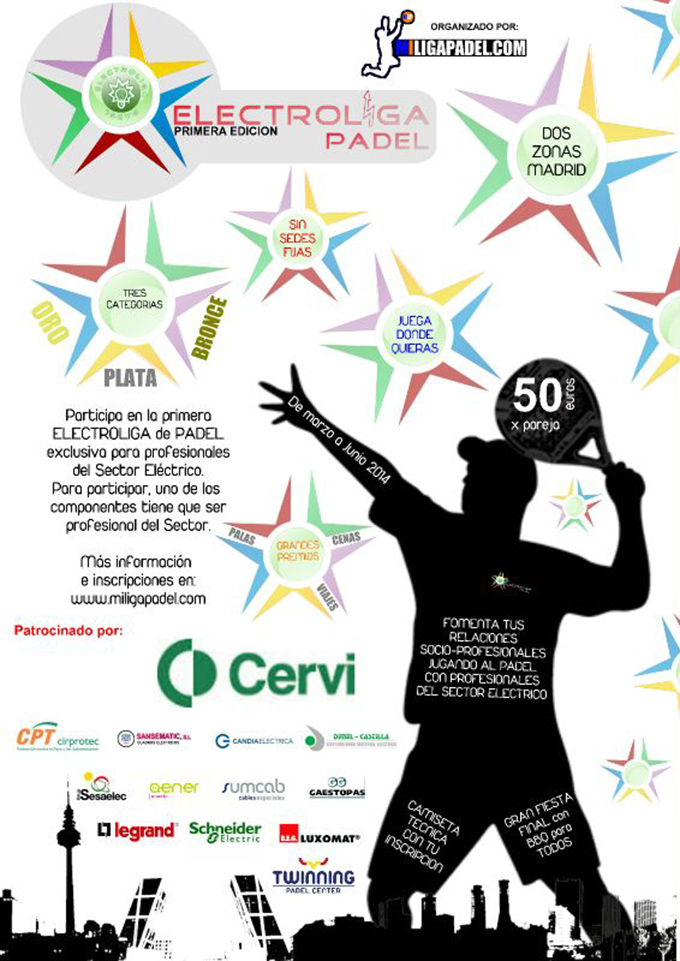 Cervi patrocina la Electroliga de Padel en Madrid